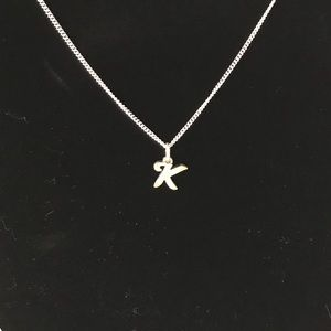 james avery jewelry sterling silver initial necklace letter k